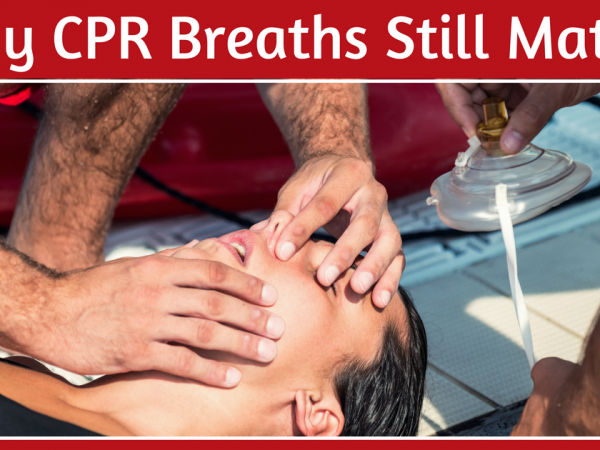 people doing cpr breaths on a woman