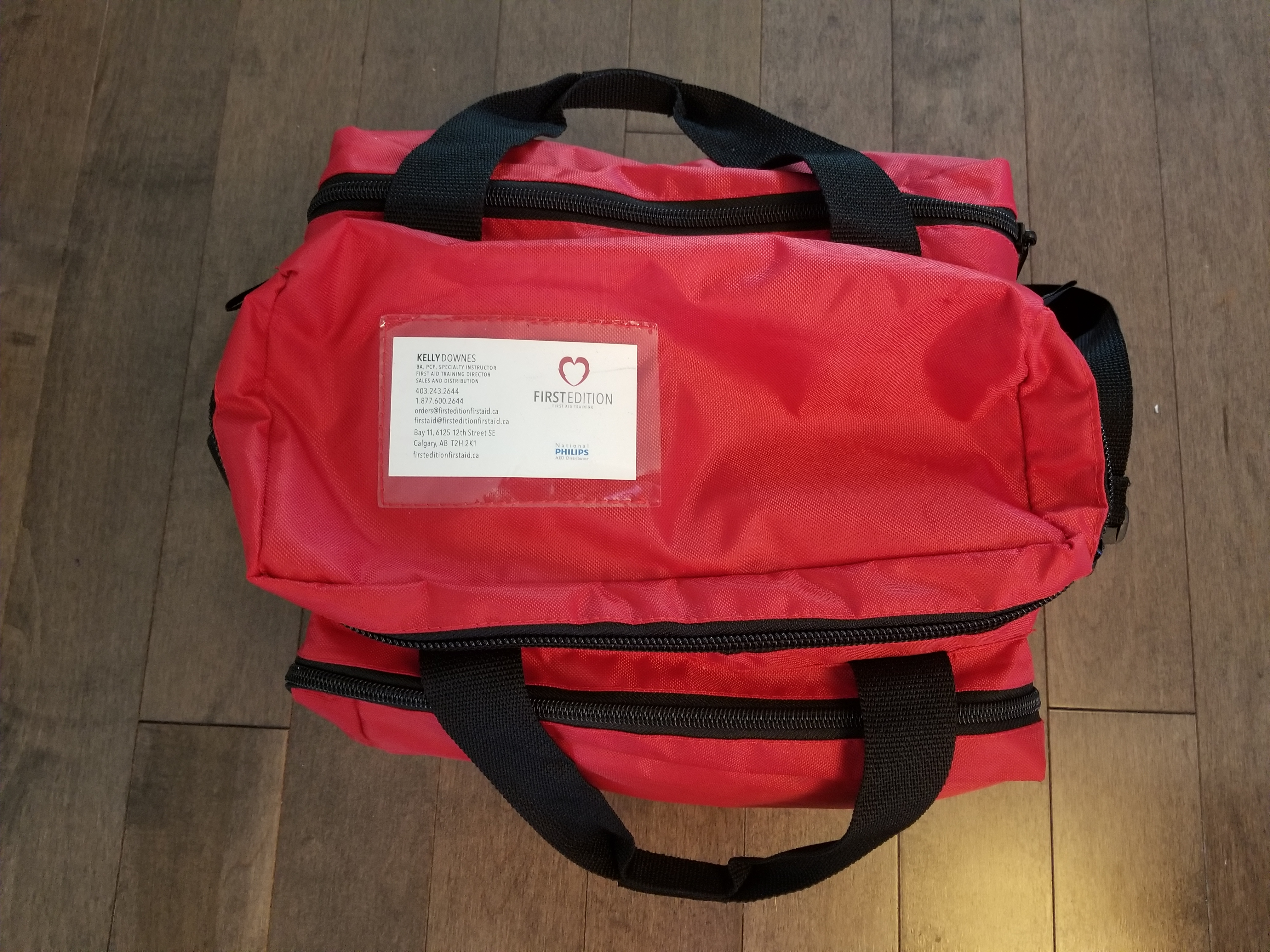 Large first aid kit with business card