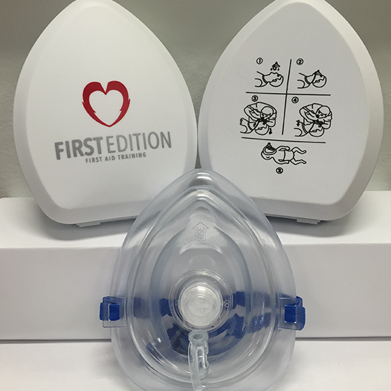 CPR Pocket face mask with case