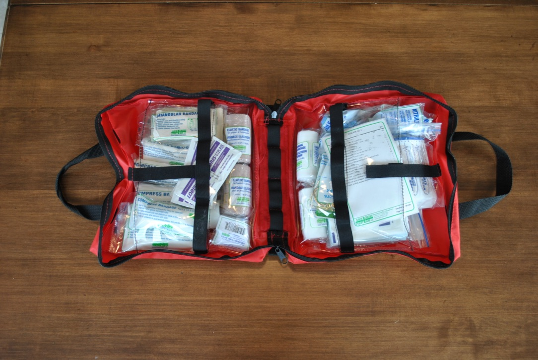 opened OHS AB#2 First Aid Kit