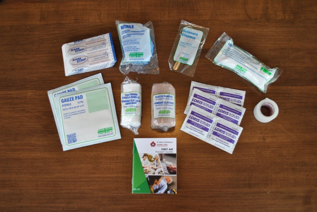 Contents of OHS AB#2 First Aid Kit