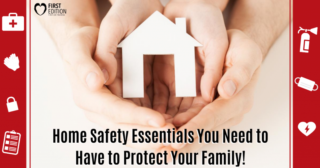 Home Safety equipment symbol with hands